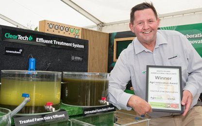 Ravensdown's Carl Ahlfeld with the Agri-Innovation award.